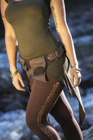 Cap sleeves pixie top - cut leggings